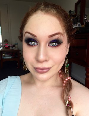Beyond happy I recreated this tutorial from last years makeup look! Sending magic and kisses your way XOXOX :). http://theyeballqueen.blogspot.com/2016/08/magical-glittery-genie-halloween-makeup.html
