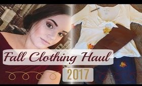 FALL CLOTHING HAUL 2017
