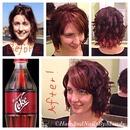 Cherry Cola Inspired Hair