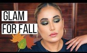 FALL MAKEUP TUTORIAL: OLIVE GREEN EYE MAKEUP   Sam Bee Beauty