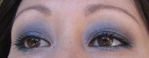 Wearing the Bobbi Brown Crystal Palette (from the 2010 Holiday Gift Collection).