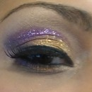 Gold/Purple Glittered Eye
