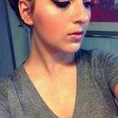 Golden cut crease neutral lips