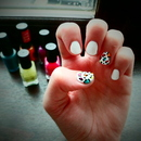 Multicoloured Leopard Print Nails