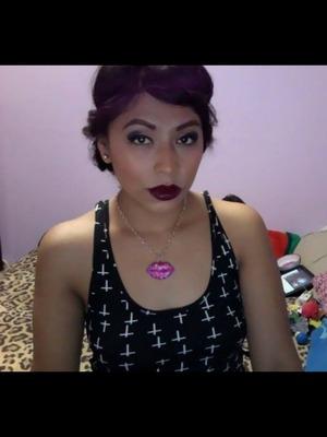 Black cherry lipstick :)