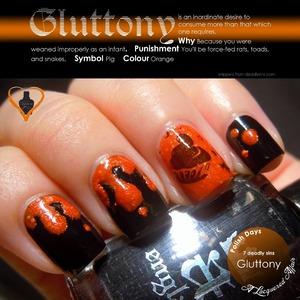 Gluttony, interpreted using a england Camelot with Rainbow Honey Hoof Wrassle. More on the blog: http://www.alacqueredaffair.com/Polish-Days-11-7-Deadly-Sins-29118855