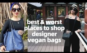 BEST & WORST PLACES TO SHOP DESIGNER VEGAN HANDBAGS | thefabzilla