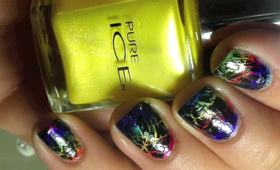 SHATTERED RAINBOW NAILS