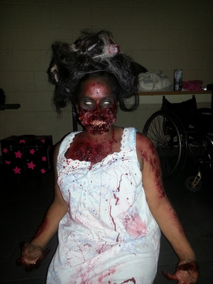 Horror competition at Marinello school of beauty. Fallow me on instagram Bombshellnails1