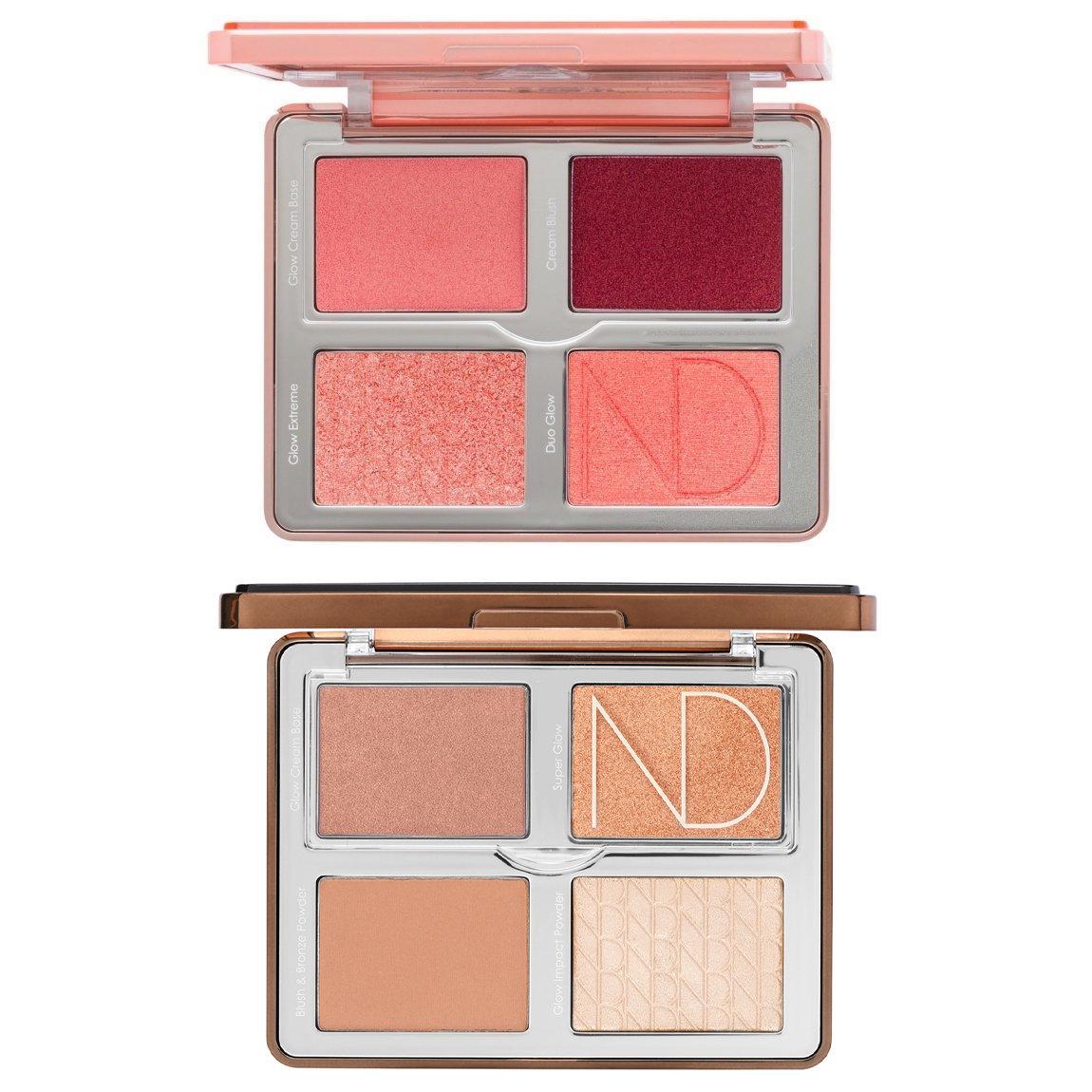 Natasha Denona Bloom Blush & Glow Palette + Tan Bronze & Glow Palette Bundle product swatch.