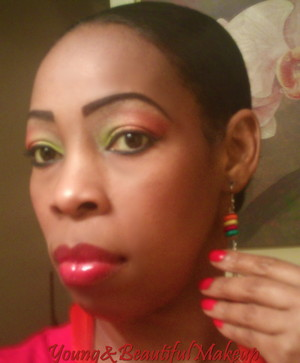 Bright spring/summer makeup.