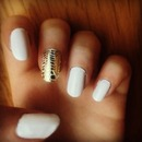 Nailart white and golf
