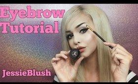 Eyebrow tutorial by Jessie Blush