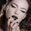 Fashion black jewel lips
