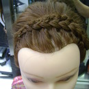 Wedding Updo (top view)