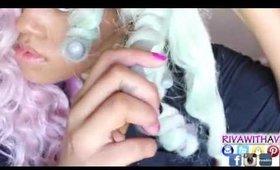 How I Curl my Crochet Kanekalon Hair