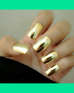 Metallic Gold Nails Jasmine G S Jjartistry Photo