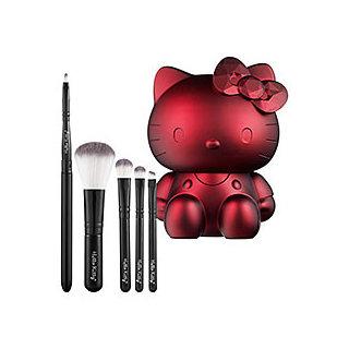 Sephora Collection Hello Kitty Noir 5-piece Brush Set - Ruby