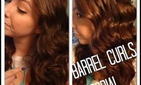 BARREL CURLS TUTORIAL | COSMO4CONFIDENCE