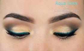 """Aqua Liner + """"Summer Fresh"""" Makeup Tips"""
