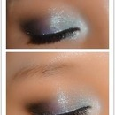 Blue smoking and designed eye look