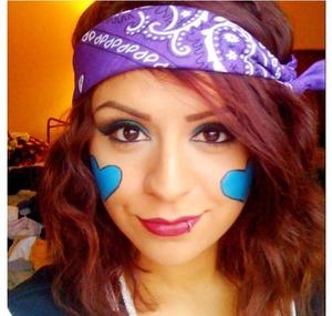 My halloween makeup. Fafinette.