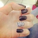 Balck & silver nails