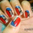 Christmas Prism Nails