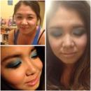 Blue eyeshadows