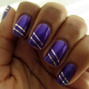 Purple and Silver Stripes