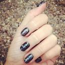 space nails, nail art