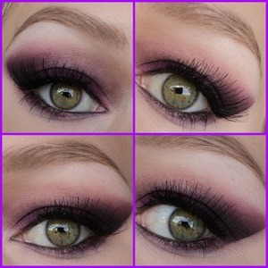 Made this purple smokey eyes look when I went clubbing. I hope you like it! The lashes are red cherry #747M and I used sleek eyeshadows.