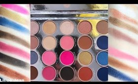 BH COSMETICS HOLIDAY Fairy Lights 20 Color Shadow Palette Swatches | Lillee Jean