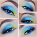 Tropical Fish Inspired Eye Makeup