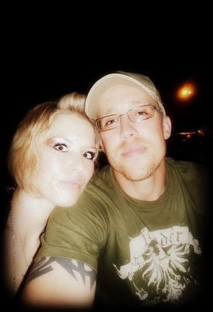 me and my hubby/soul-mate, Adam, at RockFest! <3