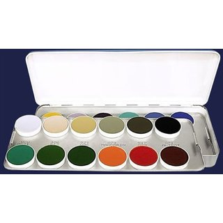 Kryolan Aquacolor 24 Colors Wet Makeup Palette - Car Palette