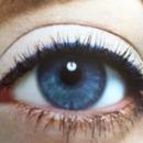 blue eyes, blue liner.