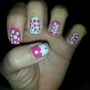 Polka Dot Cupcake Nails