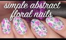 Simple Abstract Floral Nail Art Tutorial | Lacquerstyle