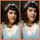 DIY flower crown and Betty bangs