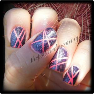 . #nailartaug :stripes http://www.thepolishedmommy.com/2013/08/alcatrazrocks-my-flip-flop-fantasy.html