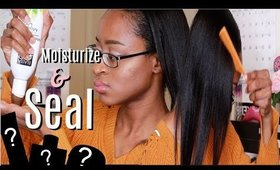 Moisturize & Seal Relaxed Hair | Quickly