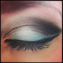 Blue and black double wing