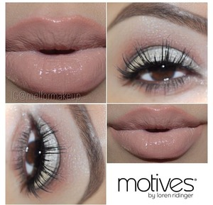 She's wearing Motives eyeshadow paired with gorgeous Badkitty mink lashes from Minxlash.com