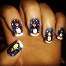 Christmas Penguin Nails!