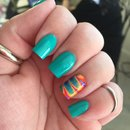 Teal and water marble