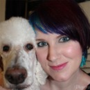 me with my poodle Phaedra.