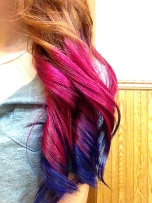 The colors last long, and don't fade to ugly colors. Cost me a pretty penny but worth it 😉   They used urban shock dye.