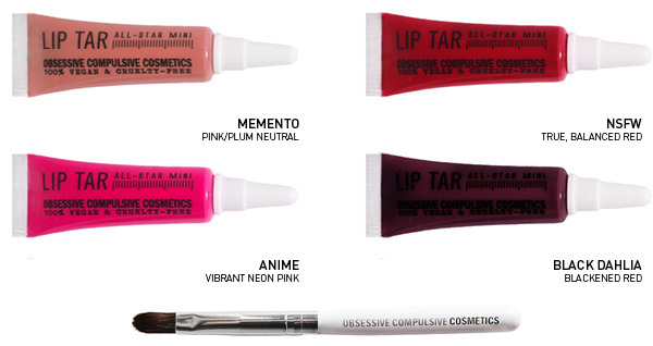 OCC Mini Lip Tar in 4 colors