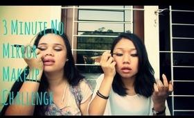 3 Minute No Mirror Makeup Challenge!
